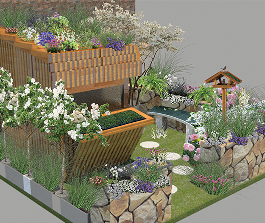 Growing Shed Garden