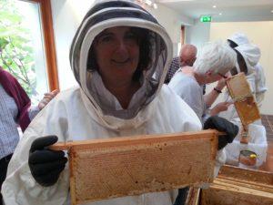 Dee with honey