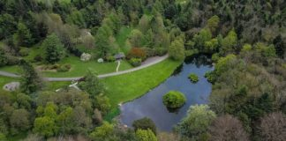 Aerial view of Lake JFK Arboretum