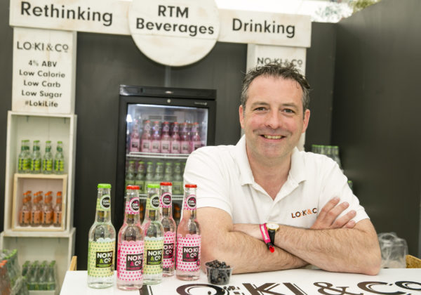 Stephen Dillon, NoKi & Co launched Ireland's first alcohol-free pre-mixed Gin & Tonic flavoured drink at Bord Bia's Bloom 2019 Photo: Johnny Bambury/Fennells