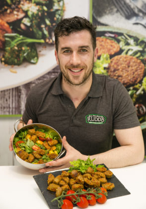 Ger Kirwan, Rudds Fine Foods who launched a new Chorizo White Pudding using traditional flavours with Spanish Chorizo chunks at Bord Bia's Bloom 2019 Photo: Johnny Bambury/Fennells