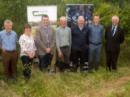 Pictured at the Launch of the 32rd RDS/Forest Service Irish Forestry Awards on the farm of Gerard Deegan (winner of the Teagasc Farm Forestry category 2018): Michael Carey, RDS Agriculture and Climate Change Committee; Olive Leavy, Westmeath Forest Owner Group; Rory Greene, DAFM; Gerard Deegan, Forest owner; Liam Kelly, Teagasc; Bernard Kiernan, MidWestern Forestry and Professor Gerry Boyle, Teagasc