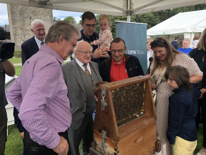 President opens the Phoenix Park Biodiversity Festival and Honey Show